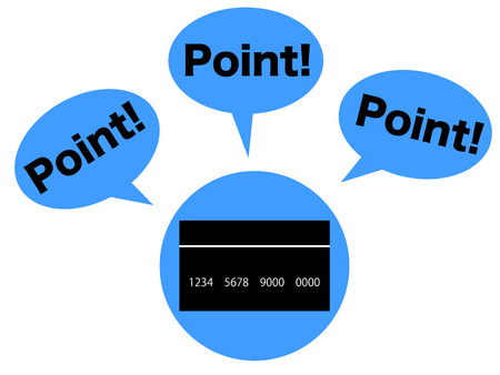 points: Concept graphic depicting the points of credit card Stock Photo