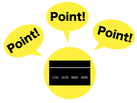Concept graphic depicting the points of credit card Zdjęcie Seryjne