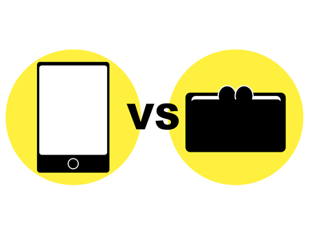 Cashless: Concept graphic depicting cashless Stock Photo