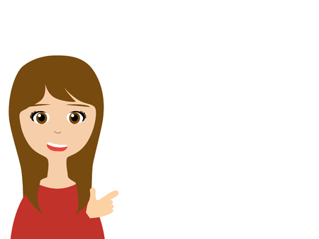 saleswoman: A smiling asian saleswoman making a presentation Illustration
