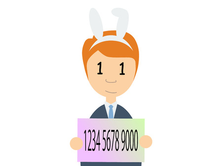 number card: A caucasian guy holding a Japanese my number card