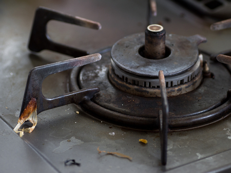 messy: Japanese messy greasy gas stove