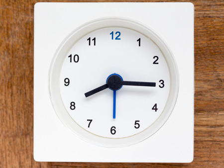 continuation: The series of the sequence of time on the simple white analog clock , 3448