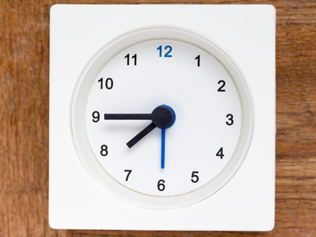 continuation: The series of the sequence of time on the simple white analog clock , 3248 Stock Photo