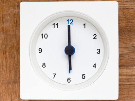 continuation: The series of the sequence of time on the simple white analog clock , 2548
