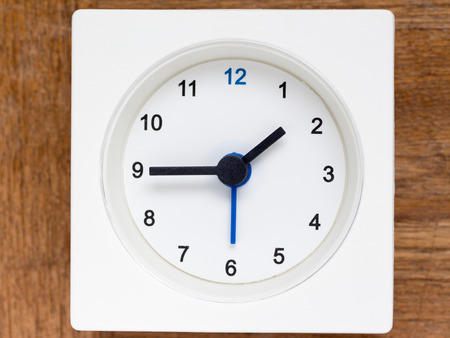 continuation: The series of the sequence of time on the simple white analog clock , 848