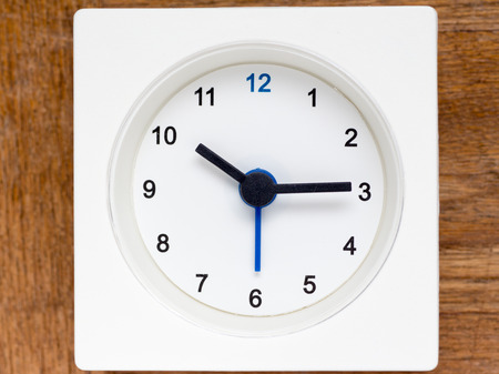 continuation: The series of the sequence of time on the simple white analog clock , 4248