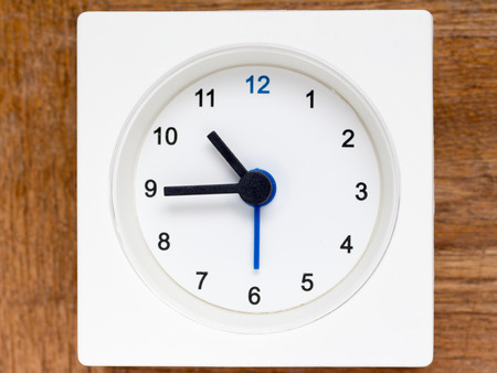continuation: The series of the sequence of time on the simple white analog clock , 4448