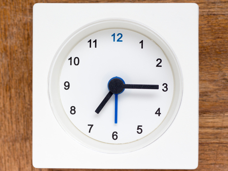 continuation: The series of the sequence of time on the simple white analog clock , 3048
