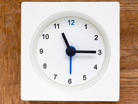 continuation: The series of the sequence of time on the simple white analog clock , 4648