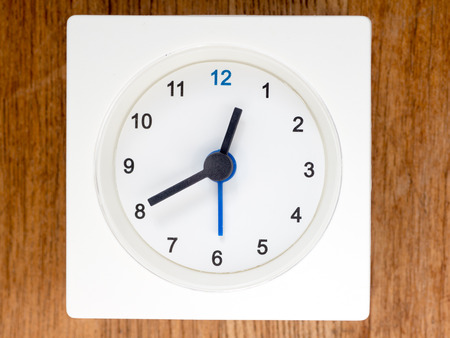continuation: The second series of the sequence of time on the simple white analog clock , 696