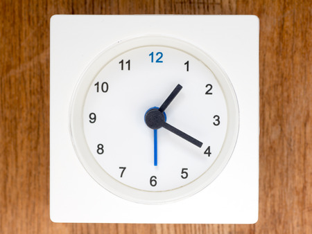 continuation: The second series of the sequence of time on the simple white analog clock , 1196