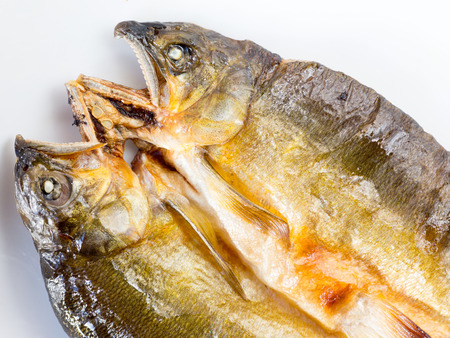 Japanese cuisine, the facial expression grilled sweetfish on the dish Stock Photo