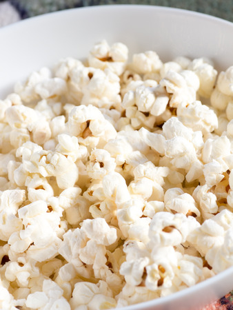 Homemade popcorn Stock Photo