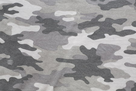 Surface of gray camo patterned fabric Stock Photo