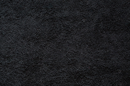 Surface of jet black pile fabric Stock Photo