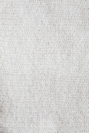 Surface of soft white mohair fabric Stock Photo