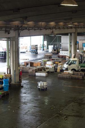 ODAWARA, JAPAN - OCTOBER 5, 2018: Tranquil fish market after trading