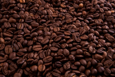 liveliness: roasted coffee beans in macro Stock Photo