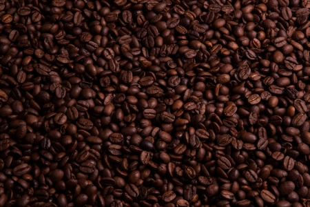 nosh: roasted coffee beans in macro Stock Photo