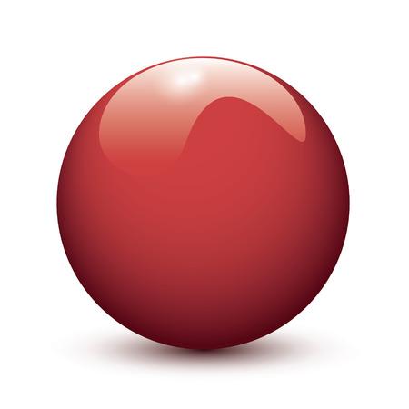 glob: Red glossy ball on white background Illustration