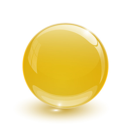 Amber blue glassy ball Vector