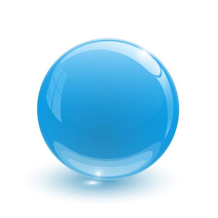 glob: Navy blue glassy ball