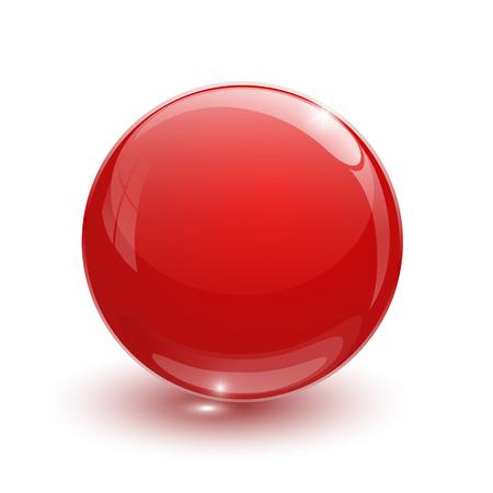 白地に赤のガラス玉  イラスト・ベクター素材