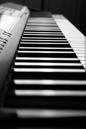 black and white keys of the piano close-up photo