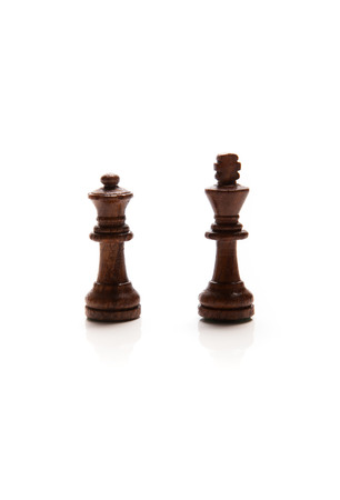 throwaway: Chess pieces set on white background