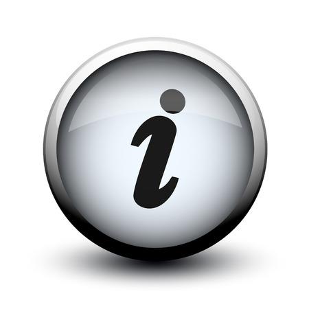 button info 2d on white background Standard-Bild
