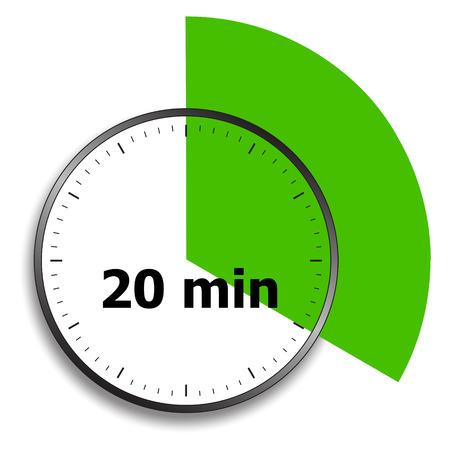 wijzerplaat stopwatch op een witte Stock Illustratie