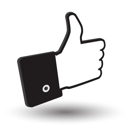 ideograph: cursor hand awesome 3d icon with shadow on white background