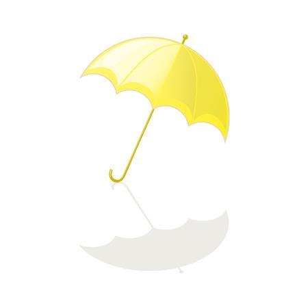 sonnenschirm: Sonnenschirm gelb auf wei�em Hintergrund