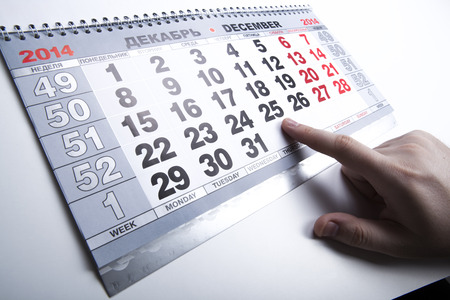 wall calendar calendar with the number of days close-up photo