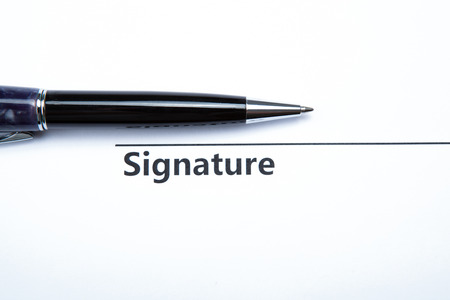 dispositions: pen and signature