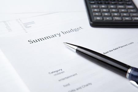 tabulation: pen lying on the document folder