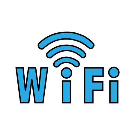 recourse: Label WiFi blue color on a white 3d