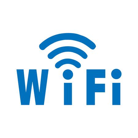 recourse: Label WiFi blue color on a white 3d