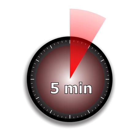 wijzerplaat chronometer op een witte achtergrond