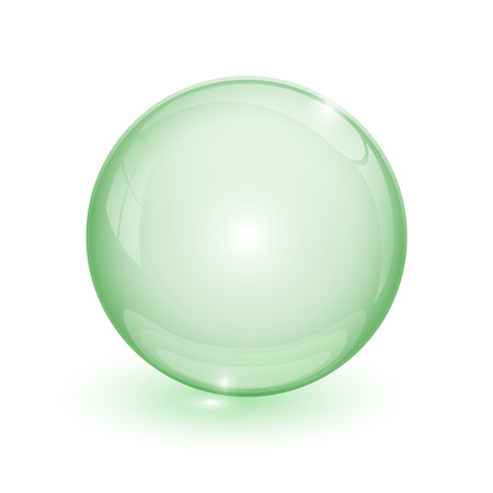Green bubble 3d on white background Stock Photo