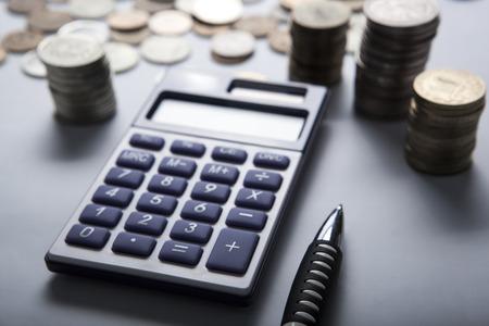 calculadora: pu�ado de rublos rusos con la calculadora de cerca