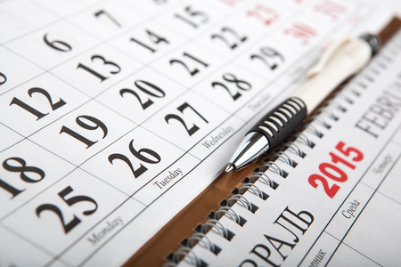 dispositions: calendarios establecidos en la mesa de cerca