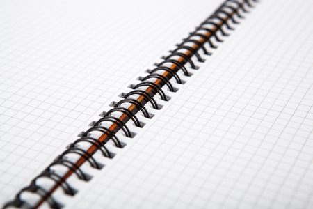 dispositions: large notebook into a cell close up Stock Photo