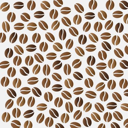 coffee beans: algunos granos de caf� sobre fondo gris