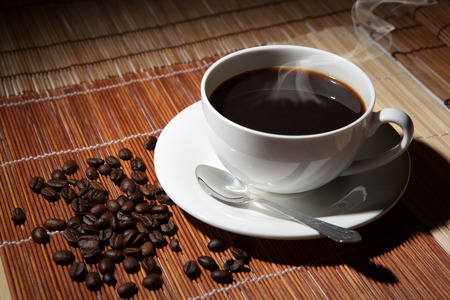 coffee still life on a table close up Standard-Bild