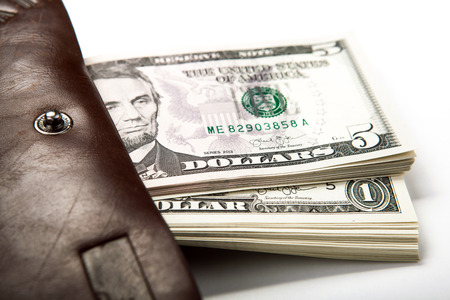 spending money: spending money in your wallet close up Stock Photo