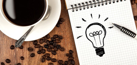 afflatus: cup of coffee icon ideas diary close up