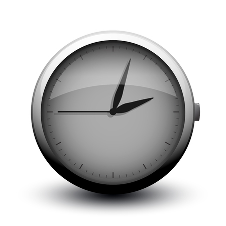 ideograph: large clock icon on button on white background