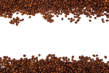 lot of roasted coffee beans close-up Stock Photo
